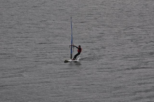 Exmoor : Wimbleball Lake - Windsurfing