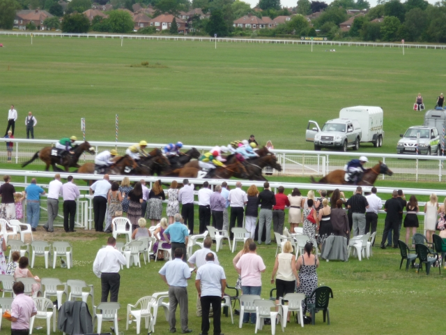 Race from the Bustardthorpe stand