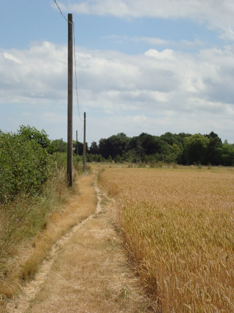 Footpath to Hampton Barns