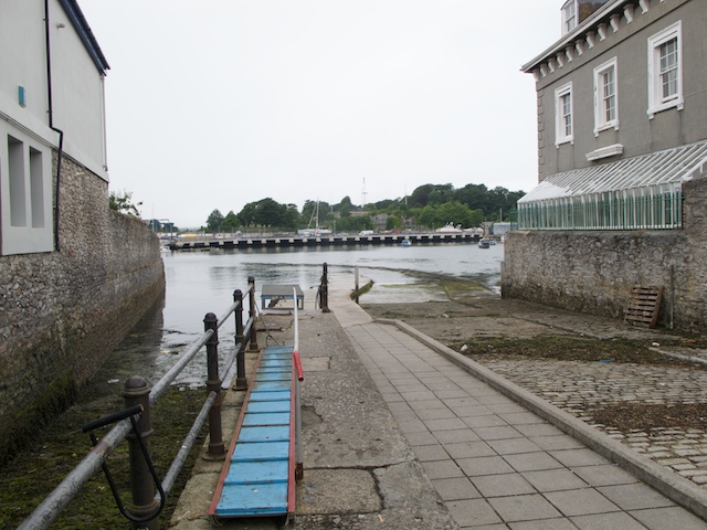 Down the slipway for the Cremyll ferry