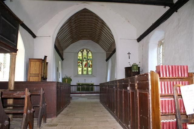 Interior of Belchamp Otten church