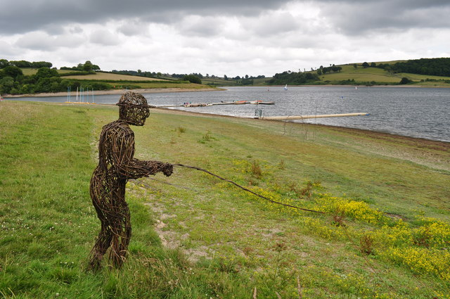 Exmoor : Wimbleball Lake - Wicker Fisherman