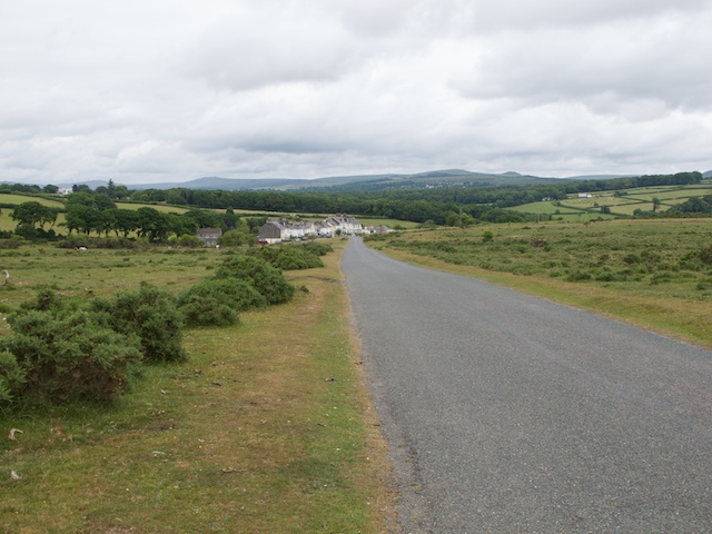 Looking down the road towards Clearbrook