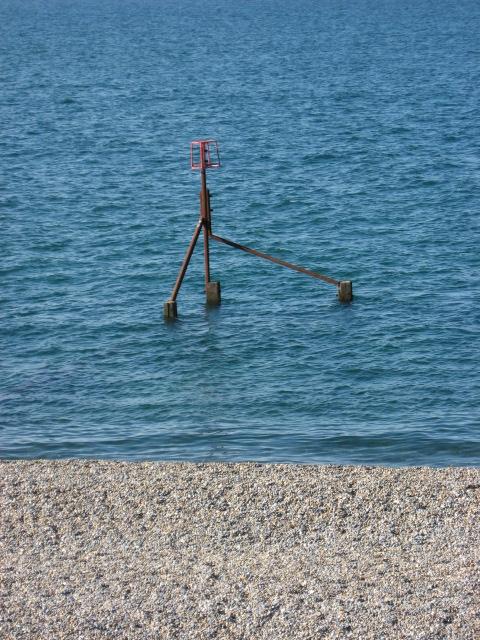 Beach and groyne marker