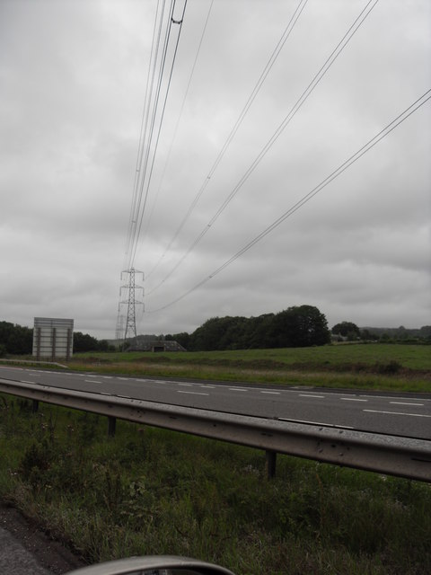 Power Lines over the M6