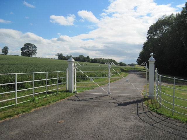 Gates to Old Rectory and Swinhope Hall