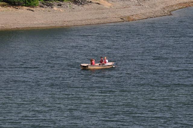 Exmoor : Wimbleball Lake & Row Boat