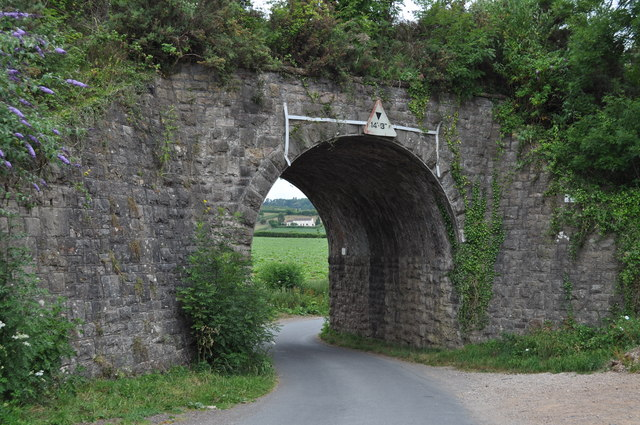 Former Wye Valley Railway bridge at Snipehill