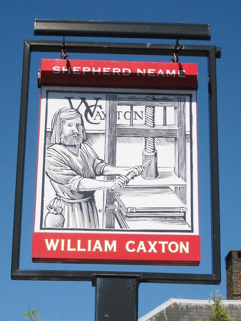 William Caxton sign