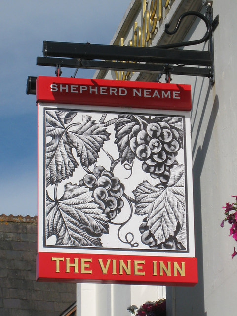 The Vine Inn sign