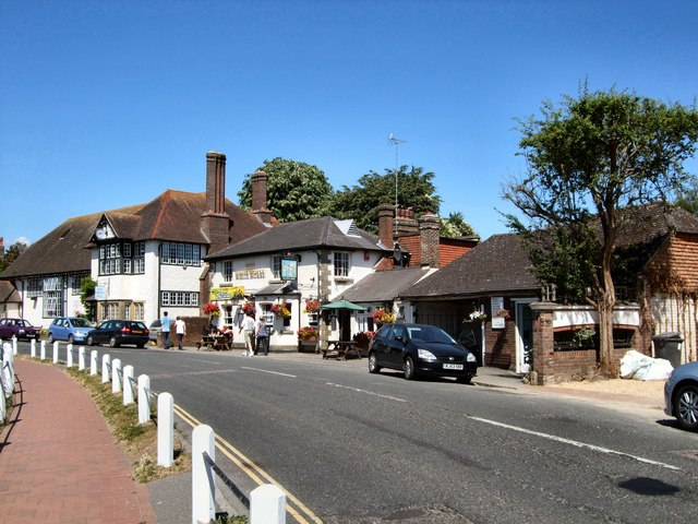 Lindfield High Street opposite the Pond