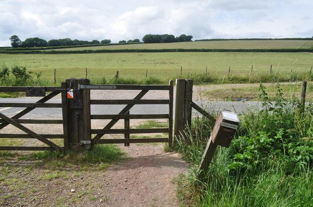 Exmoor : Gate & Road