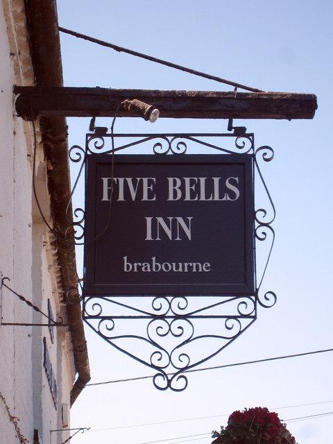 The Five Bells Inn sign