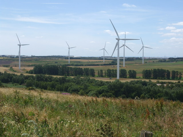 Sheffield Hill towards Bagmoor Wind Farm