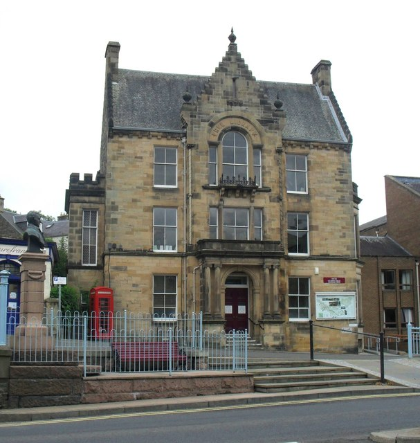 The library and Registrar's office, Galashiels