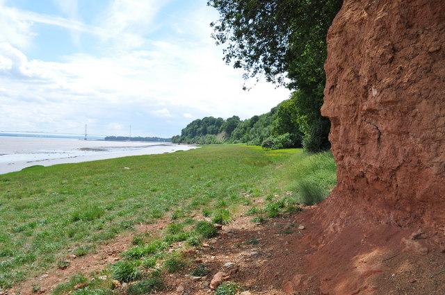 Sedbury Cliffs and estuary
