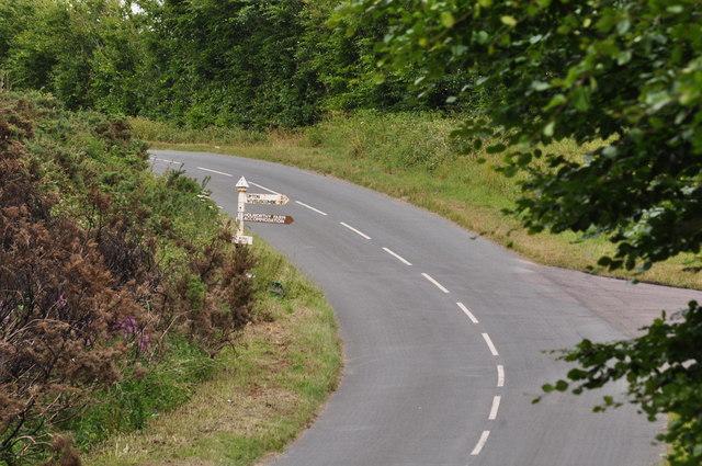 Exmoor : Road & Signpost
