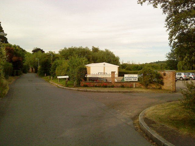 Entrance to Attenborough Football Club and Cricket Club
