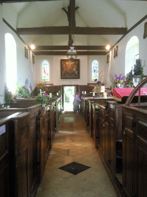 Badlesmere Church interior