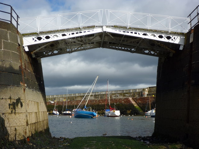 Under the Lifting Bridge at Victoria Harbour, Dunbar