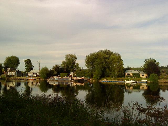 Riverside properties on the Trent