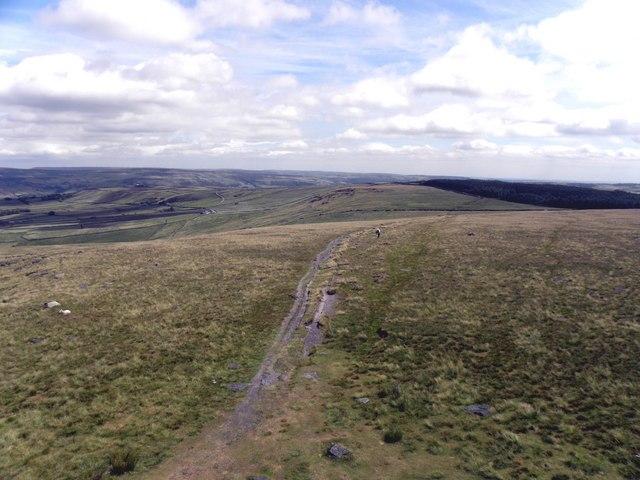 Pennine Way East from Stoodley Pike
