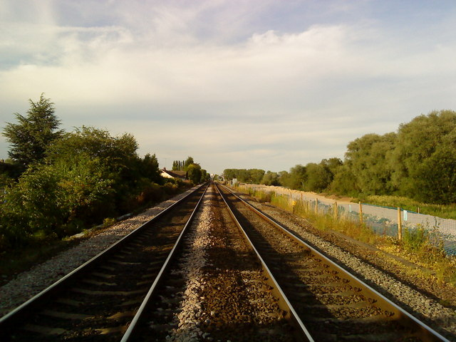 Railway towards Beeston