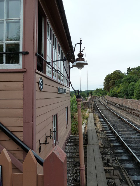 The view past Bewdley North Signal Box