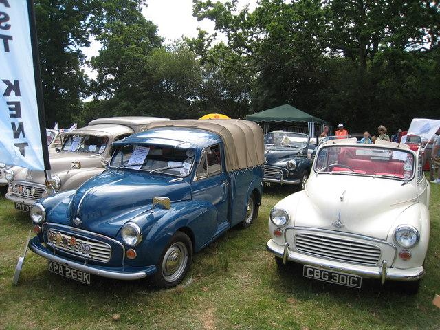 Morris Minors at Darling Buds Classic Car Show