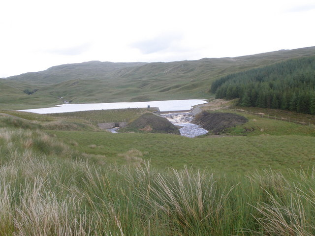 Amazement The Allt Beochlich transformed into Loch Beochlich