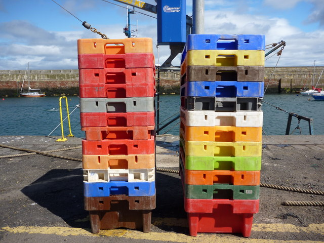 Modern Art Installation at Victoria Harbour, Dunbar