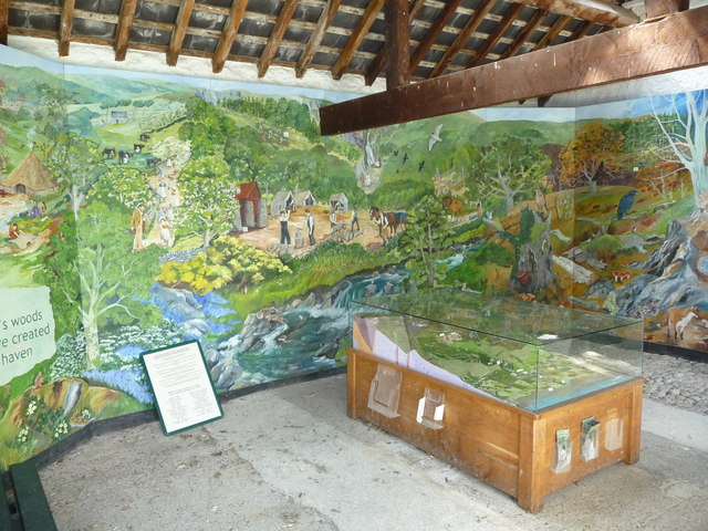 Part of the Visitor Centre, Nant Rhaeadr, in Coedydd Aber NNR