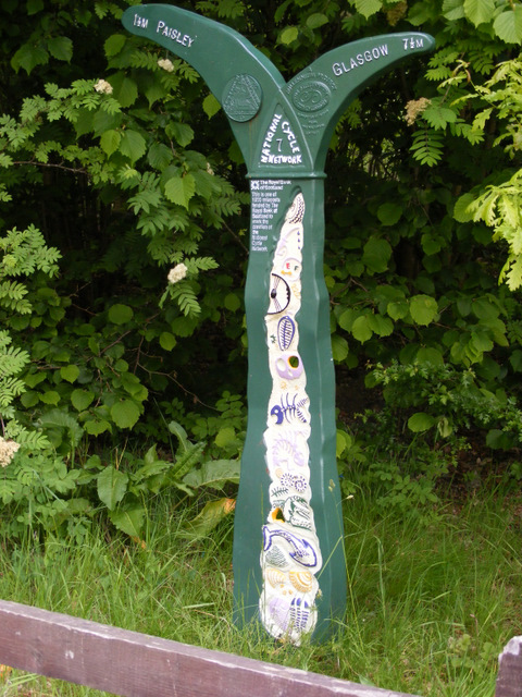National Cycle Network route marker