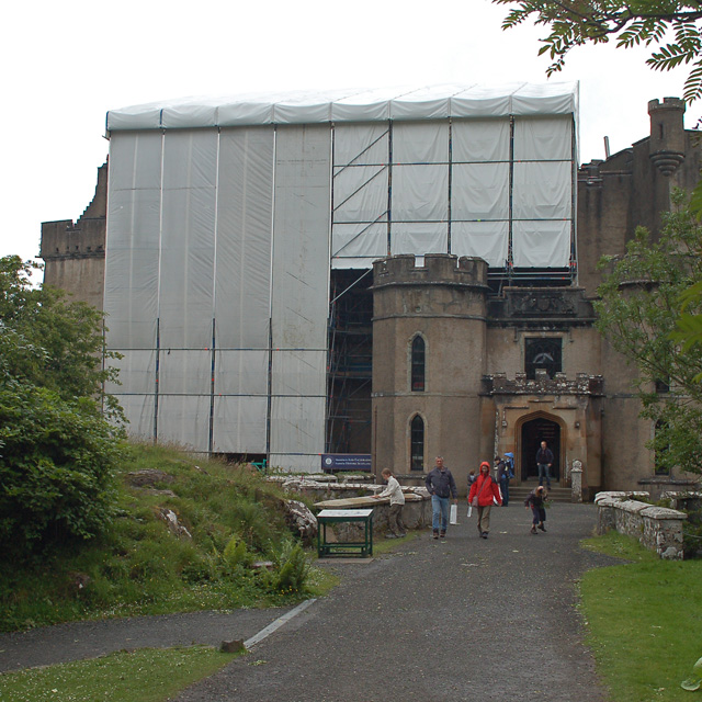 Entrance to Dunvegan Castle