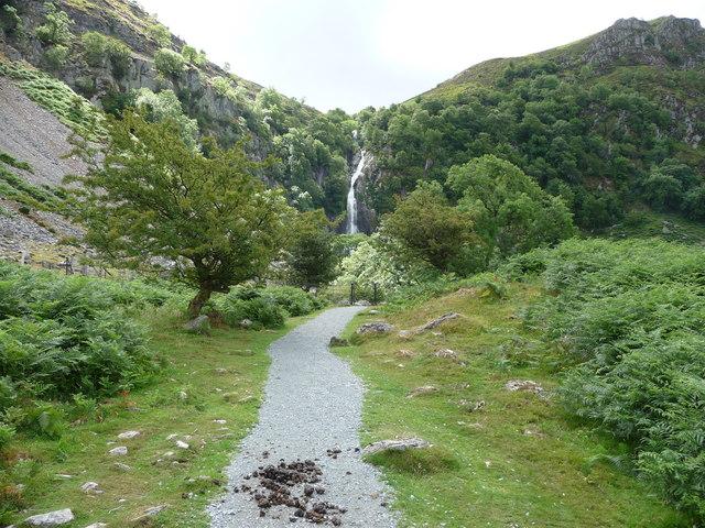 Approaching Aber Falls