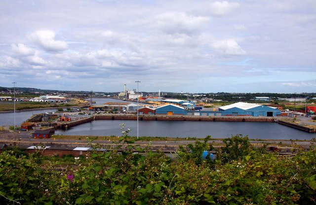 Barry Docks from Barry Island