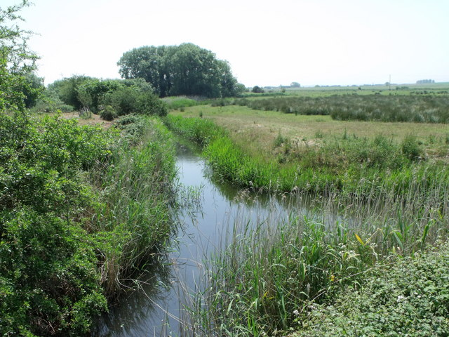 Drainage ditch west of Hooe, East Sussex