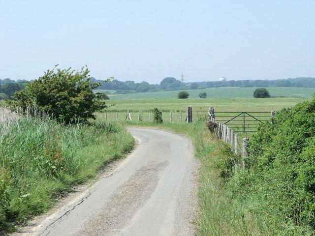 Road west of Hooe, East Sussex