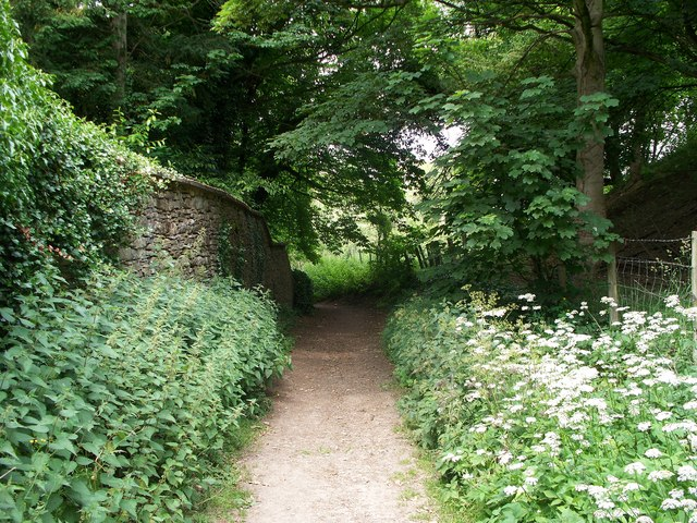 Footpath by the castle