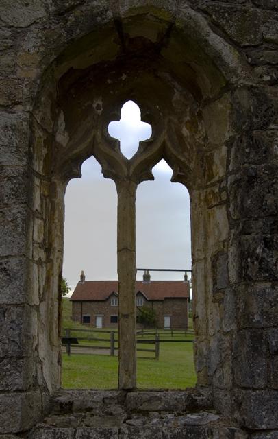 Wharram Percy church window