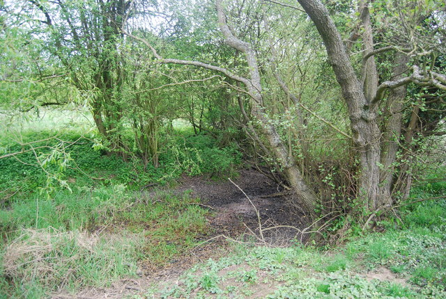 Dry course of a cut off meander, River Ouse (Sussex)