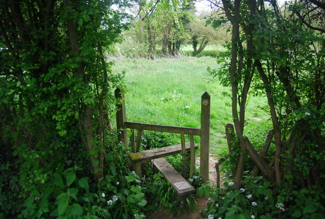 Stile on the Sussex Ouse Valley Way, A275