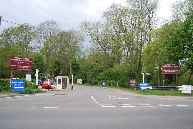 Entrance to Sheffield Park Station (Bluebell Railway)