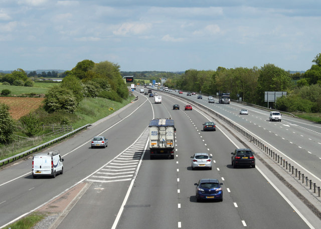 2010 : M4 motorway looking east
