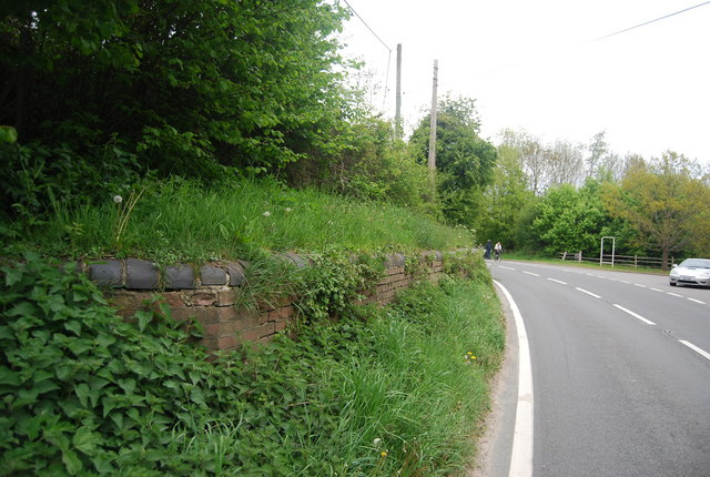 The remains of a railway bridge, A275