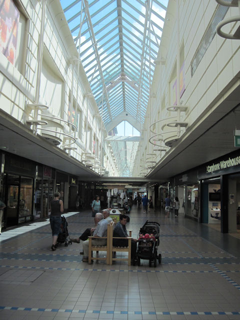 Inside Freshney Shopping Complex