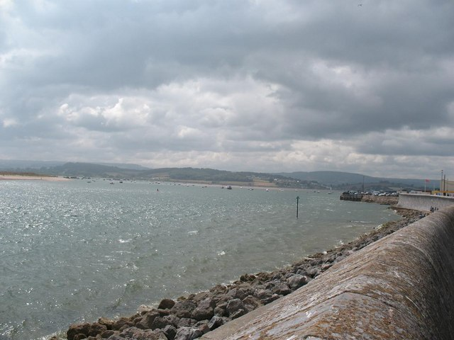 Exmouth: looking up the Exe from the sea wall
