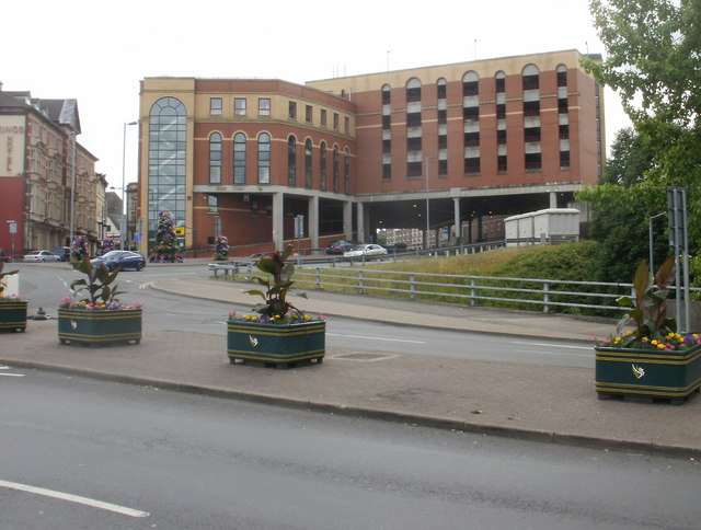 Newport : NCP car park viewed from the Old Green
