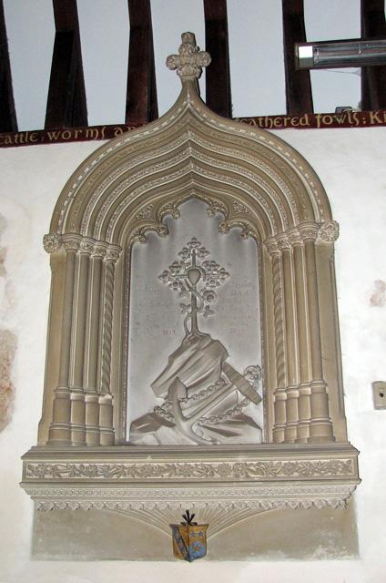 St Andrew's church in Eaton - S 19 memorial