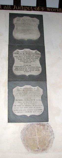 St Andrew's church in Eaton - C18 memorials